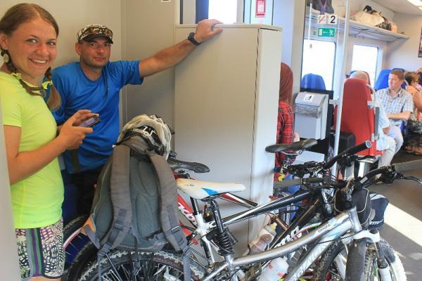 25 мая пассажиры Каменска-Уральского смогут в электричках бесплатно провезти велосипеды...