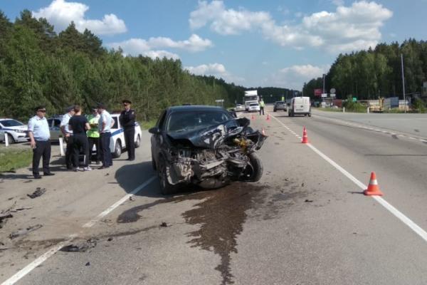 В ДТП 24 июня пострадал водитель, который ехал в Каменск-Уральский...