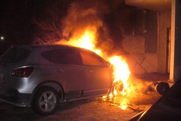 Рано утром 20 ноября под Каменском-Уральским сгорела иномарка...