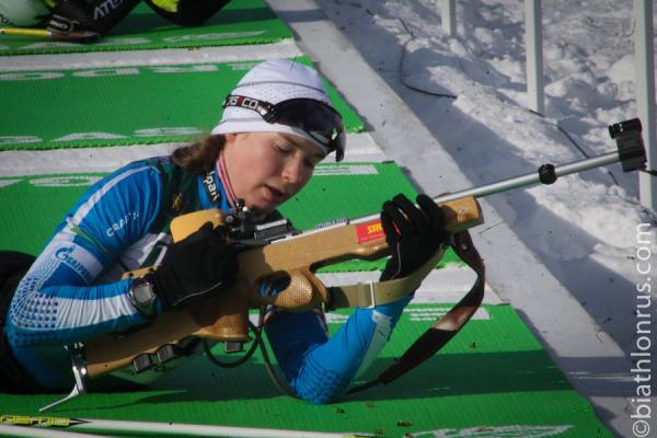 Тамара Воронина из Каменска-Уральского стала пятой в суперспринте на Кубке России по биатлону...